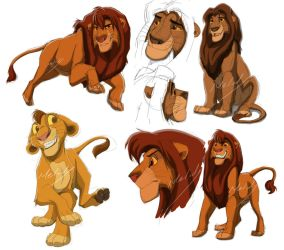 Lion King doodle by Melodys300