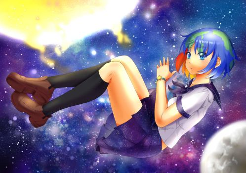 Earth-chan  [Speedpaint] by RimoOfArtSchool