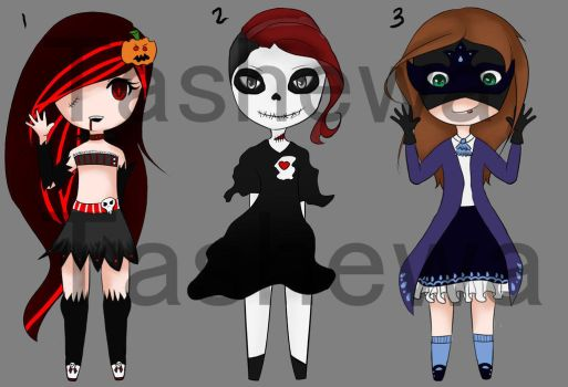 Halloween Collab Adopts [Open] by Tashewa