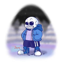 Drawtober Day 5: OG Sans by WhicheverComa