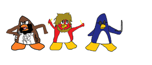Death Grips as club penguin style by thoseportalnerds