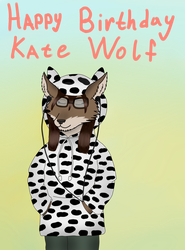 Happy Birthday KateWolf by SkiffleTheVolflock
