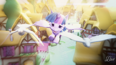 Flying Of Dove [SFM PONY] by Lux-The-Pegasus