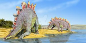 Stegosaurs by DiBgd