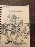 Inktober 11 Gilla mother and son by LytletheLemur
