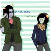 Hipstestuck Equius and Nepeta by MoosiahTheGreat