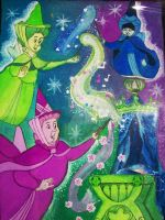 Flora, Fauna, and Merryweather by liagiannjezreel