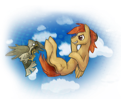 FreeFalling Contest Desert Storm OCPony commission by Kna