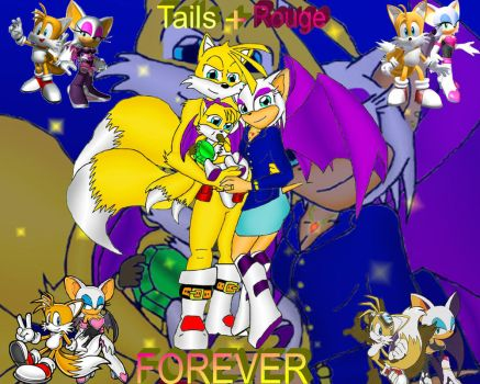 Tails+Rouge FOREVER by MetAlex