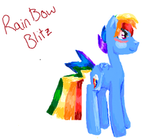 Rainbow Blitz Flockdraw by Honey-PawStep