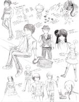 Sketch dump + The Reason Why... by hanychan