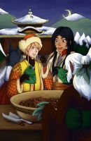 SS- Koichi and Kimako with Chestnut Seller by Ferrous-Corvid
