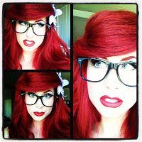 I did it first...Hipster Ariel by TheRealLittleMermaid