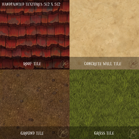 Handpainted Tileable Textures by Mad-Owl
