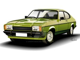 1974 MK2 Ford Capri by CRWPitman
