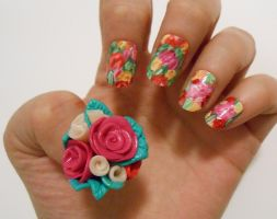 Flower nails by henzy89