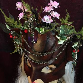 Midsummer Night's Dream Leather Mask Again by aGrimmDesign