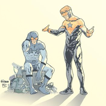 Blue Beetle and Booster Gold by matlopes