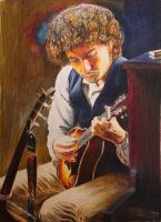 Bob Dylan Portrait by reesmeister