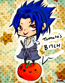 Sasuke and his Tomatos by KireiSora