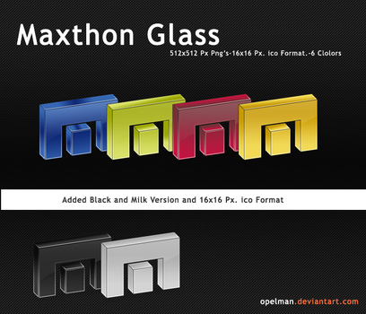 Maxthon Browser Glass Dock by opelman