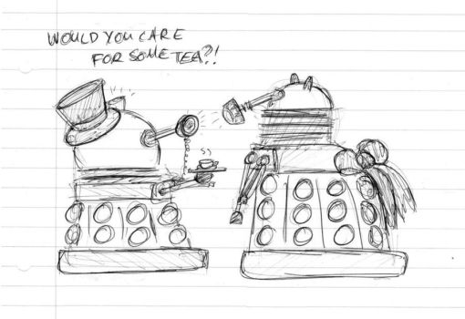 Dalek Monocle meets Dalek Bustle by Miss-Bob