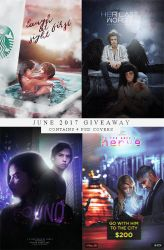 Giveaway June 2017 - 4 PSD covers by xjowey02