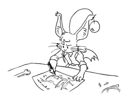 Moogle at Work by surfersquid