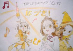 Ojamajo Doremi Draw #2 - Happy Birthday Hazuki ! by wifun2012