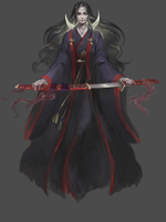 Boy in black kimono ADOPT 1 day AUCTION [CLOSED] by opi-um