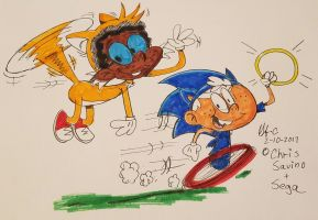 Sonic Loud n Clyde McPrower by spongefox