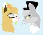 CloudTail and RollingEevee by RedpandaQueen08