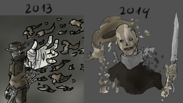Comparison of one year by This-Shattered-Mind