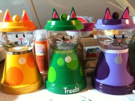 Cat centerpieces by MonaLisaSmile23