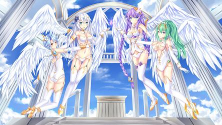 4  goddesses by Muwa12