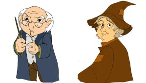Prof. Flitwick - Prof. Spout by afo2006