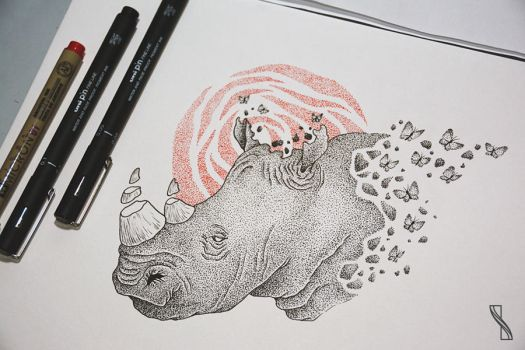 Rhino by isabelle-teixeira