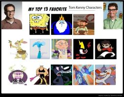 My Top 13 Favorite Tom Kenny Characters by Mileymouse101