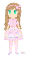 Pastel/Lolita outfit or idk- by Angelinia