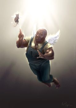 John Coffey Meets Mr.jingles by miguelzuppo