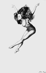 acrobatic woman by bullet-in-my-mouth