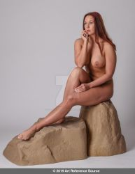 Stock:  Allison nude in mermaid or fairy pose by ArtReferenceSource