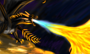Hungarian Horntail by dragonofdivinewind