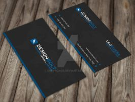 Blue Corporate Business Card by GreyFoxGR