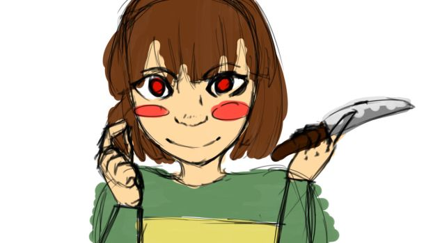 Chara Hehe by Violetsb