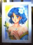 Decorative Portrait: Ami-chan (Sailor Mercury) by galia-and-kitty
