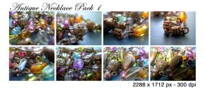 Antique Necklace Pack 1 by tennyoSTOCK