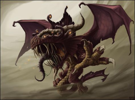 Half-Dragon Beholder by SPipes