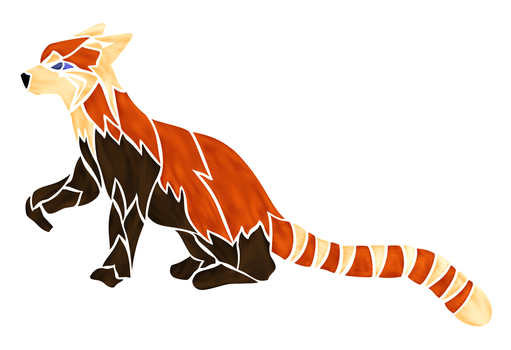 Tribal-Styled Red Panda by FlamerXMagofire