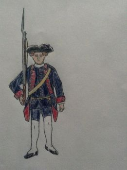 1st Braganca Infantry (Portugal 7 years war) by leptoceratops